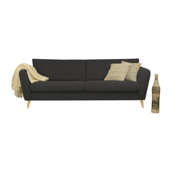 Ciemnoszara sofa 3-osobowa Helga Interiors Max