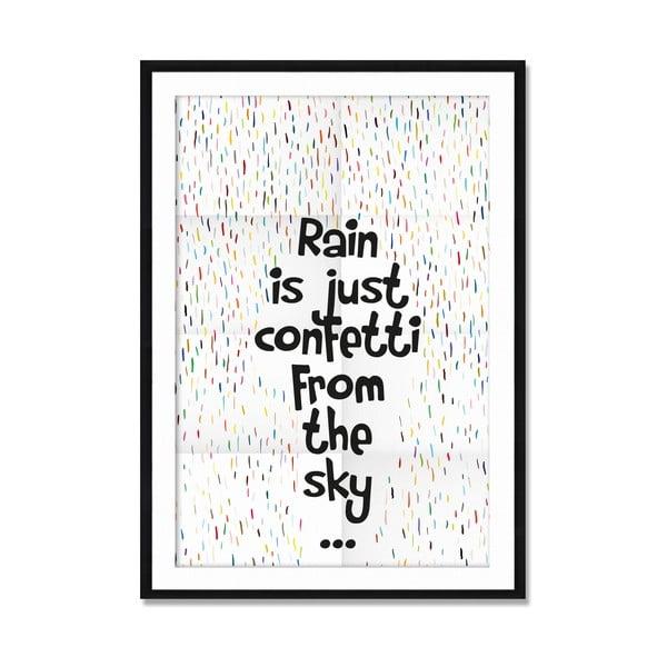 Oprawiony obraz Rain Confetti, 50x70 cm