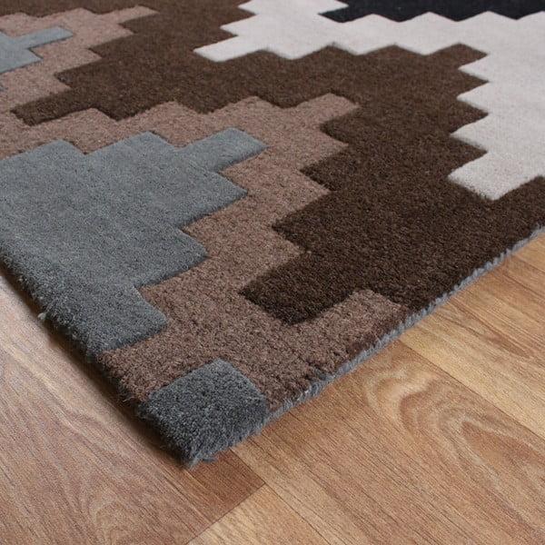 Wełniany dywan Matrix Cuzzo Chocolate 160x230 cm