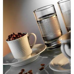 Komplet szklanek i filiżanek z talerzykiem Klasyka, 12 szt.