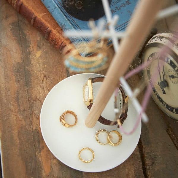 Biały stojak na biżuterię Yamazaki Tosca Branch