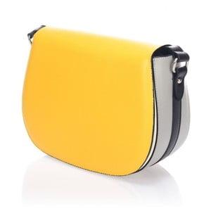 Skórzana torebka Krole Karina, żółta