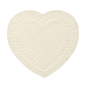 Białe podkładki bawełniane w kształcie serca Côté Table