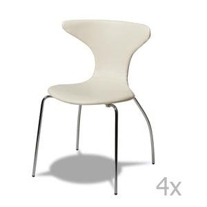 Zestaw 4 białych krzeseł Furnhouse Suki