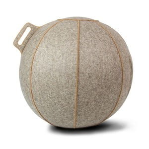 Szaro-beżowa filcowa piłka do siedzenia VLUV, 65 cm