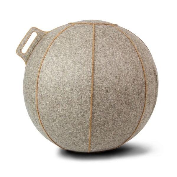 Szaro-beżowa filcowa piłka do siedzenia VLUV, 75 cm