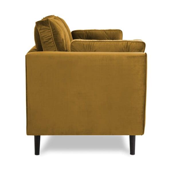 Żółta sofa trzyosobowa VIVONITA Portobello