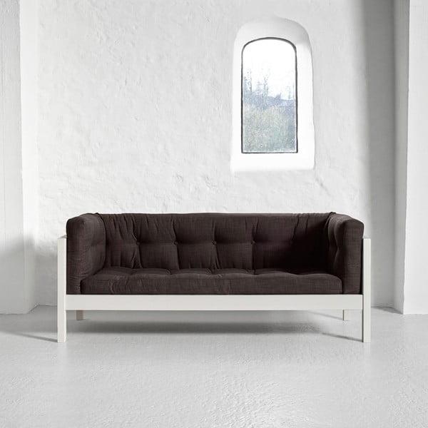 Sofa dwuosobowa Karup Fusion White/Linoso Choco