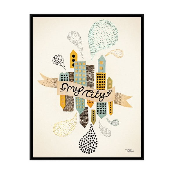 Plakat Michelle Carlslund My Two Cities, 50x70cm