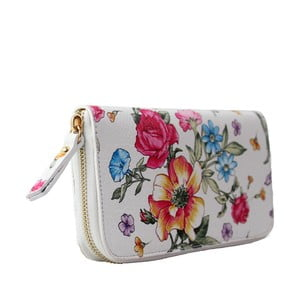Kwiecisty portfel skórzany Flowerina