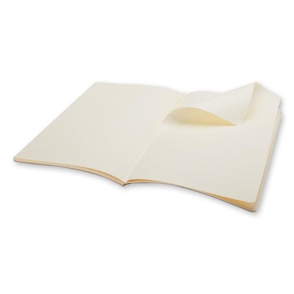 Biały notatnik w linie Moleskine Volant, bardzo duży
