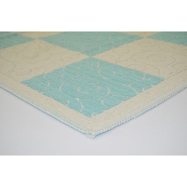 Niebieski wytrzymały dywan Patchwork, 100x150 cm