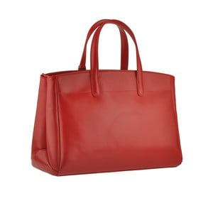 Skórzana torebka Emilio Masi Propus, czerwona
