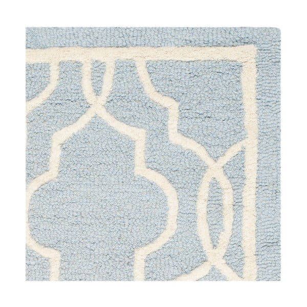 Dywan wełniany Safavieh Elle Sky, 91x152 cm
