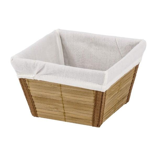 Naturalny koszyk Wenko Bamboo, 15 x 15 cm
