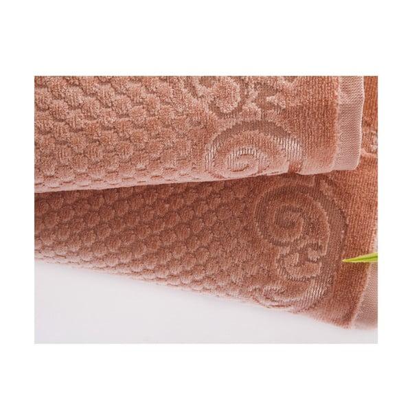 Zestaw 2 ręczników Acustic Salmon, 50x90 cm i 70x140 cm