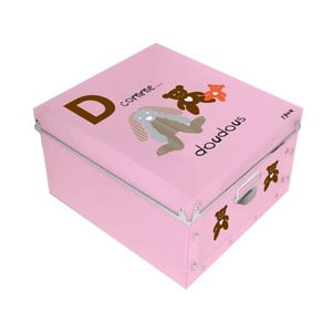Różowe pudełko Incidence ABC, 32x32cm