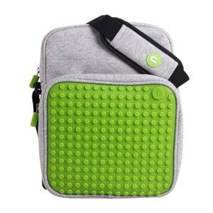 Pikselowa torba na ramię, szara/zielona