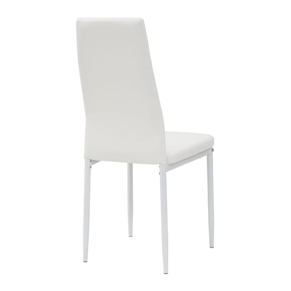 Krzesło Queen, białe/białe nogi