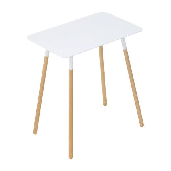 Biały stolik YAMAZAKI Plain, 45x30 cm
