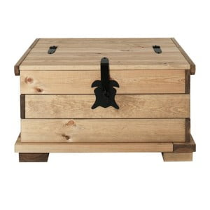 Skrzynia z drewna sosnowego Støraa Valerie, 72x72cm