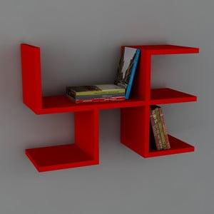 Półka Cool Book Red, 61,8x40x22 cm