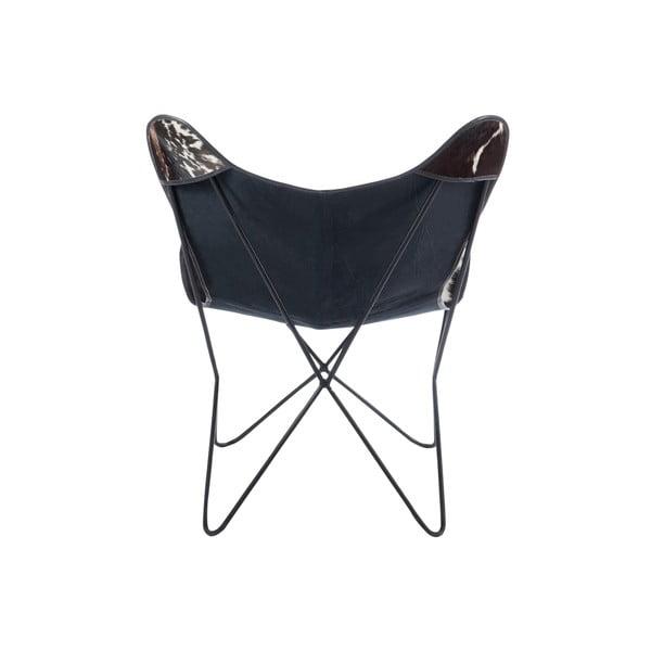 Skórzany fotel Lounge, czarno-biały