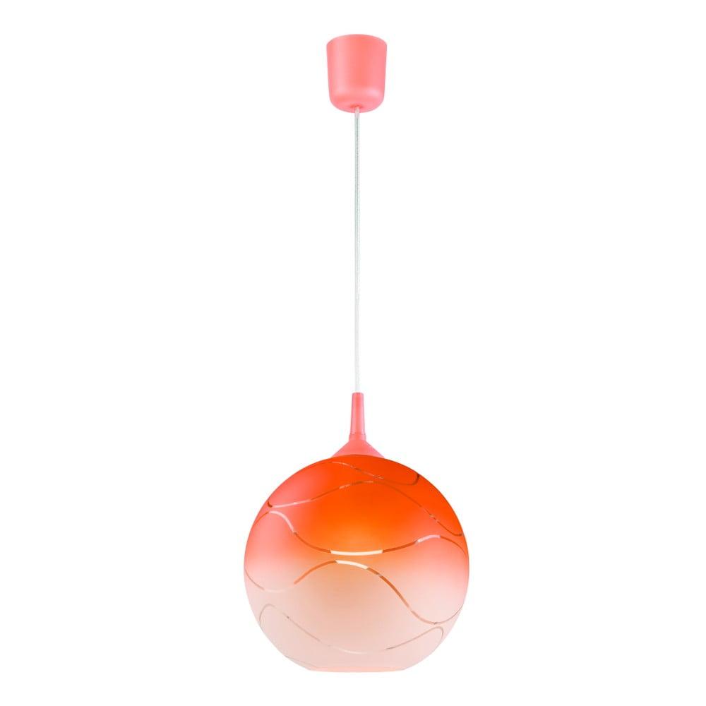 Pomarańczowa okrągła lampa wisząca Lamkur Waves