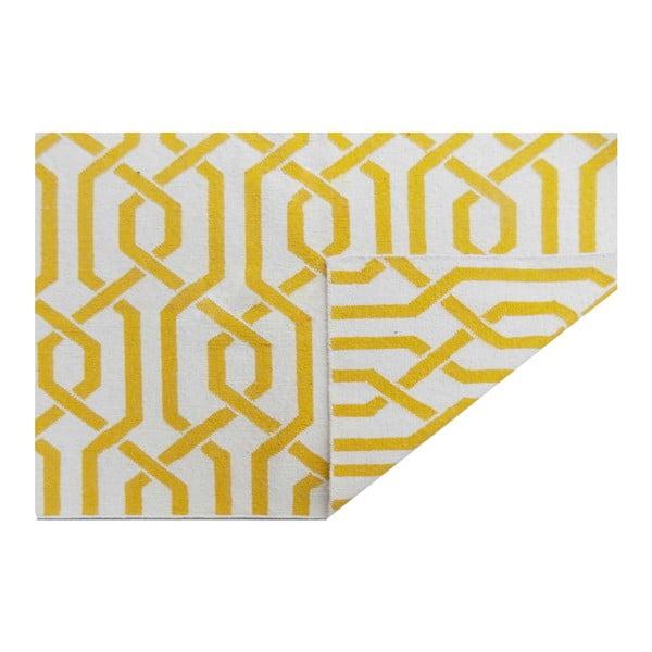Ręcznie tkany dywan Camila Yellow, 155x240 cm