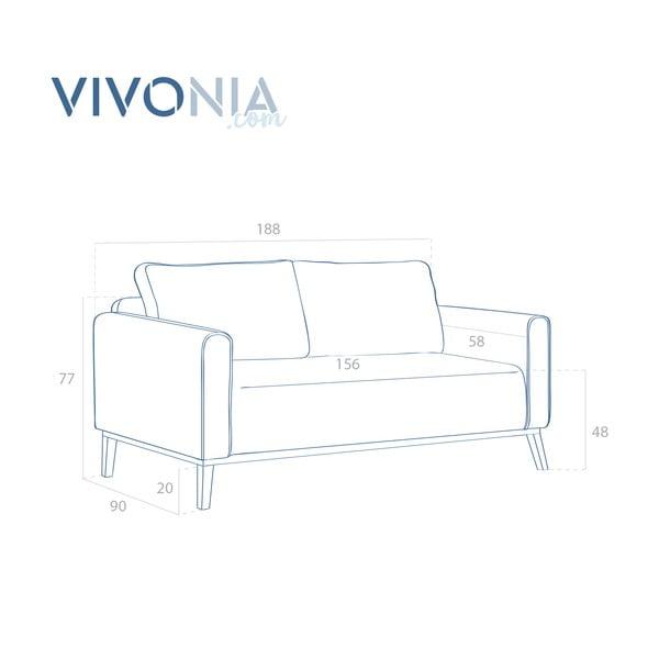 Jasnoszara sofa trzyosobowa VIVONITA Milton
