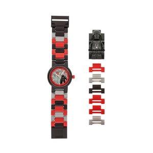 Czerwono-czarny zegarek z figurką LEGO® Star Wars Darth Vader