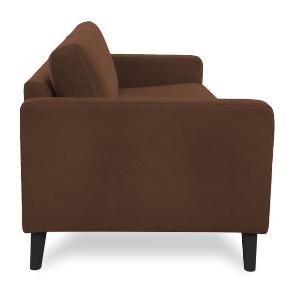 Brązowa sofa 2-osobowa z czarnymi nogami Vivonita Tom