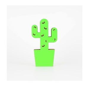 Zielona dekoracja z kartonu w kształcie kaktusa Dekorjinal Pouff Cactus, 25x13cm