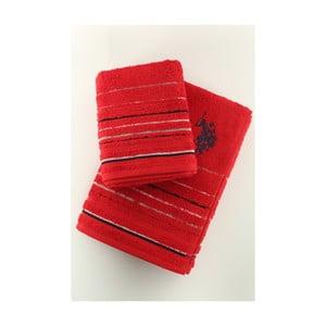 Komplet 2 ręczników Set U.S. Polo Assn. Red, 50x90 a 70x140 cm