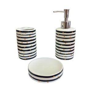 Komplet 3 akcesoriów do łazienki Maiko   Luxury