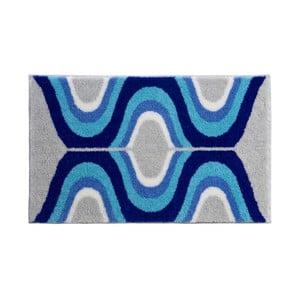Dywanik łazienkowy Kolor My World XVII 70x120 cm, niebieski