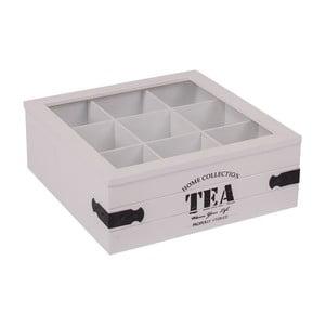 Białe pudełko z 9 przegródkami na herbatę Tea