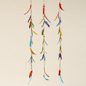 Zestaw 3 wiszących dekoracji Boltze Feather