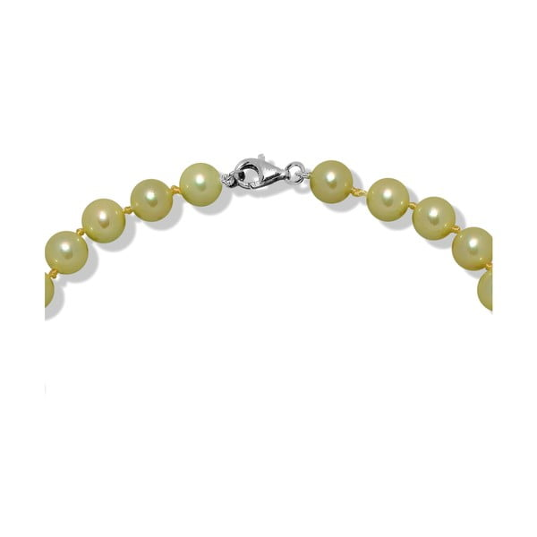Limonkowy naszyjnik perłowy Mara de Vida Only Me, dł. 45 cm