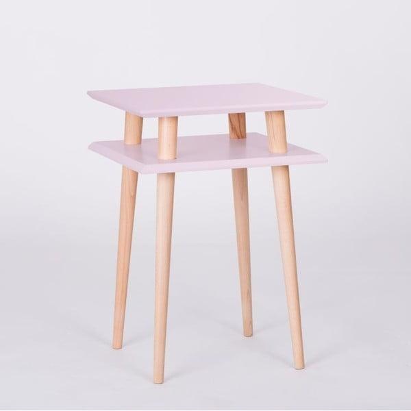 Stolik kawowy UFO Square Pink, wys. 61 cm, szer. 43 cm