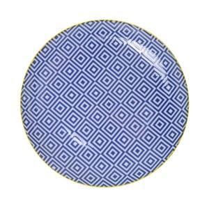 Porcelanowy talerz Geo Blue, 23,8x2,6 cm