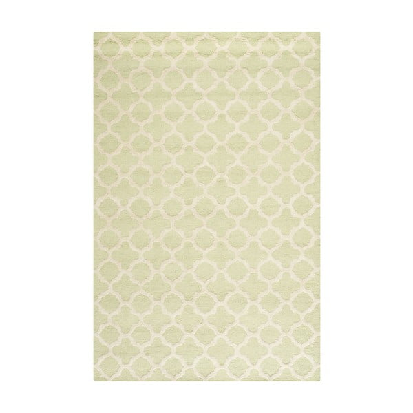 Wełniany dywan Bessa Light Green, 152x243 cm