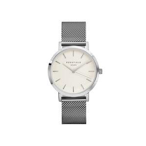 Biało-srebrny zegarek damski Rosefield The Mercer