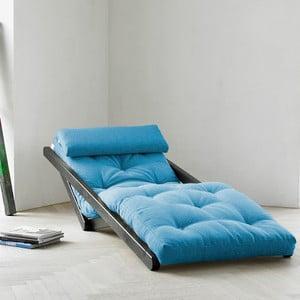 Szezlong Karup Figo Wenge/Horizon Blue, 70 cm