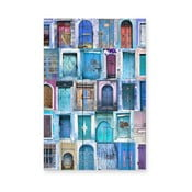 Drewniana tablica Really Nice Things Blue Doors
