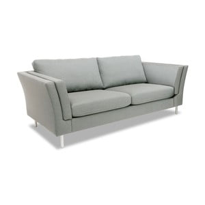 Jasnoszara sofa dwuosobowa VIVONITA Connor