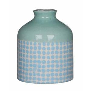 Niebiesko-biały wazon ceramiczny Mica Fabio, 13x11cm