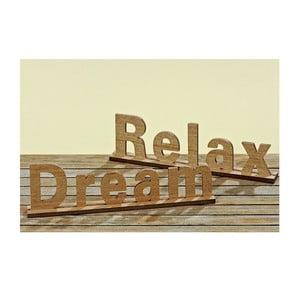Zestaw 2 dekoracyjnych napisów Relax and Dream