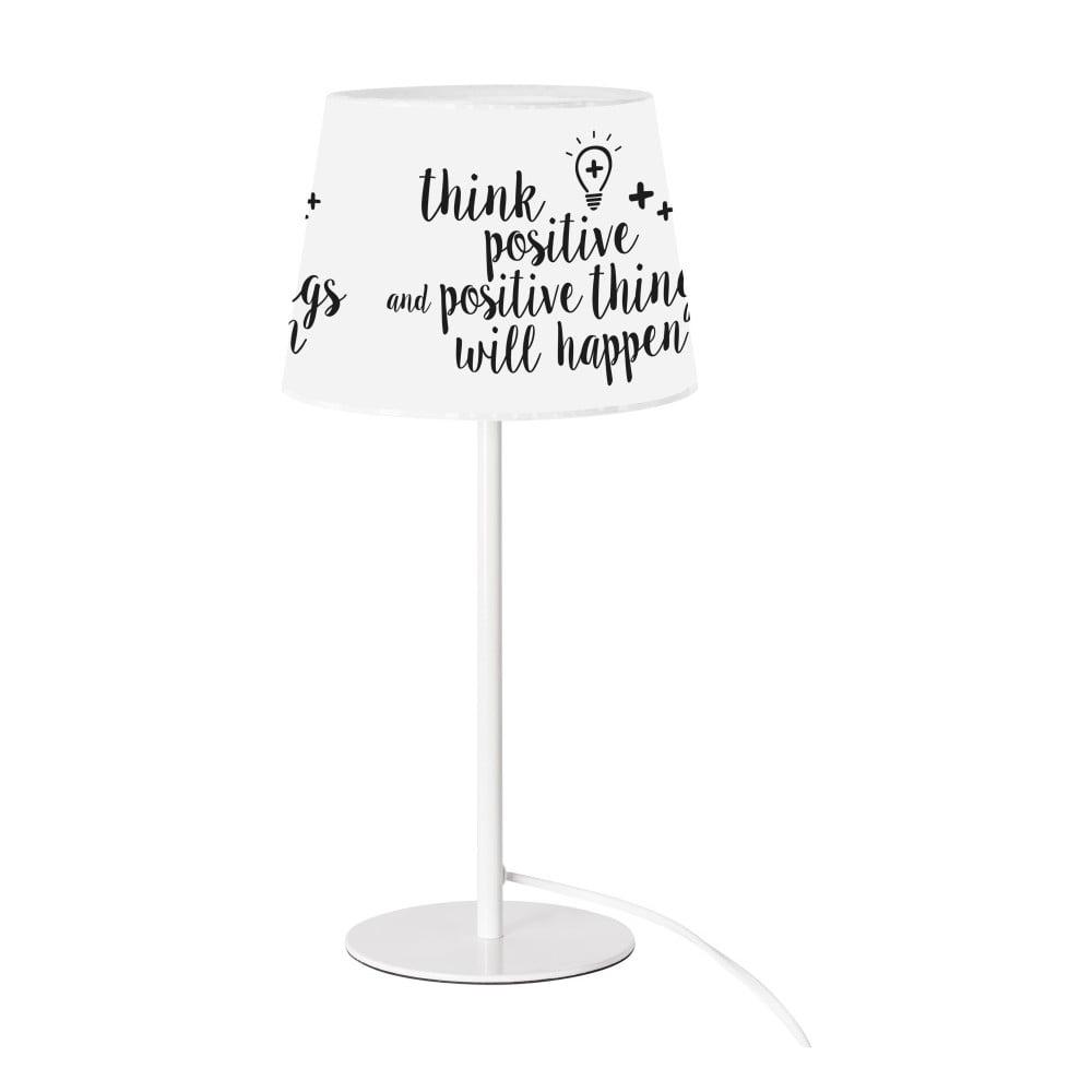 Czarno-biała lampa stołowa SULION Positive
