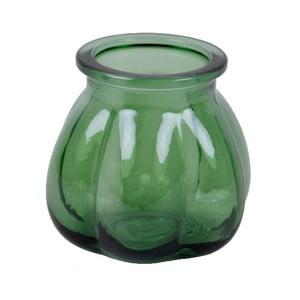 Zielony wazon ze szkła z recyklingu Ego Dekor Tangerine, wys. 11 cm